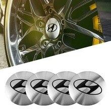 4Pcs 56mm Auto Emblem Wheel Center Hub Cover Sticker For Solaris Hyundai I30 Tucson Creta IX35 Kona I20 I10 I40 Veloster Getz