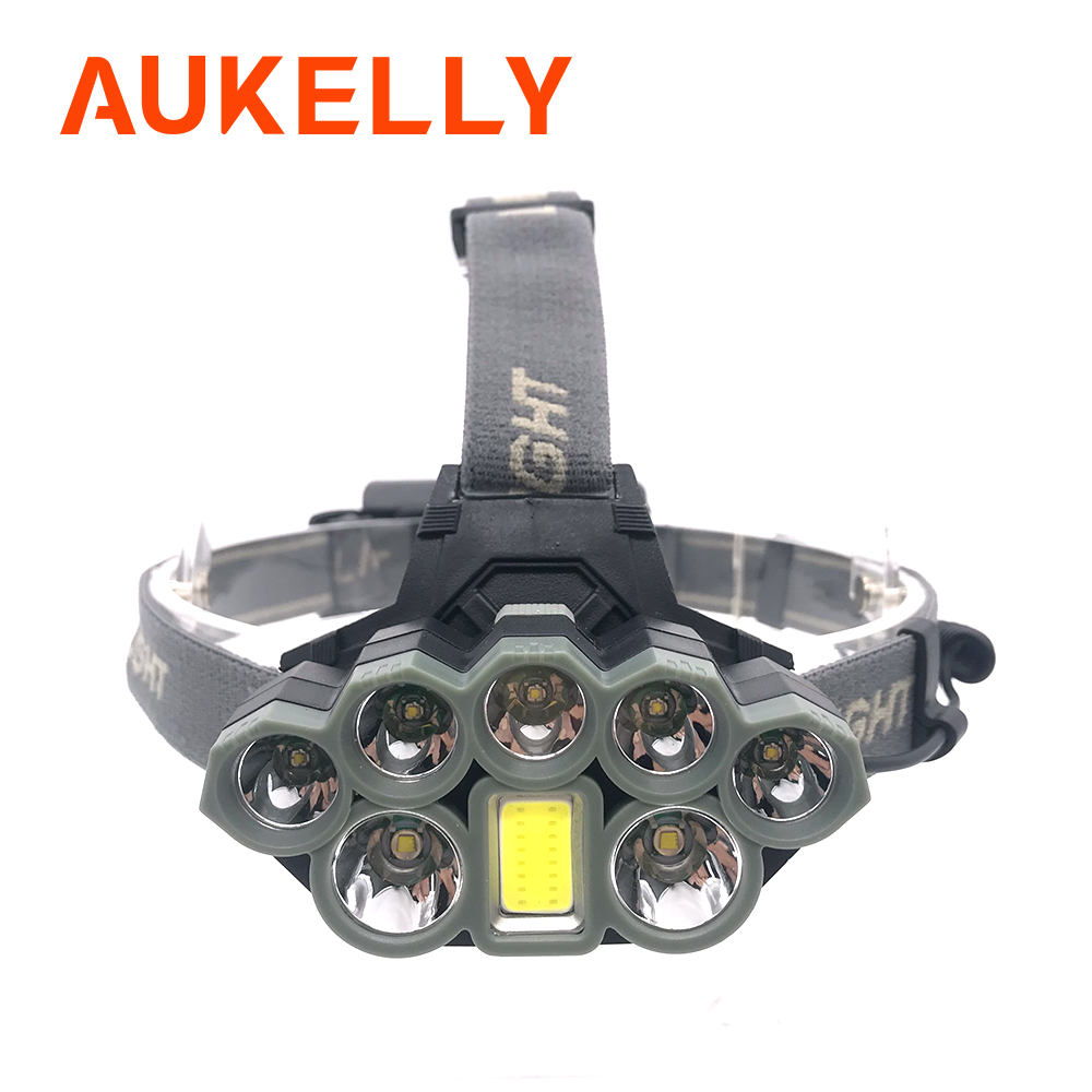 USB Rechargeable Headlight 10000lm Ultra Bright Headlamp 2 T6 5 Q5 1 COB LED Head Lamp Flashlight Torch Head Light Lantern 18650