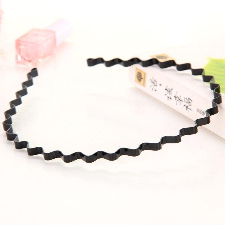Новая мода Мужская Женская унисекс черная волнистая повязка для волос спортивная повязка для волос аксессуары для волос - Цвет: 6