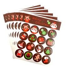 1600 teile/los Nette Frohe Weihnachten Santa Claus Deer Runde Selbst adhesive abdichtung Dekorative aufkleber Geschenk Schreibwaren Großhandel