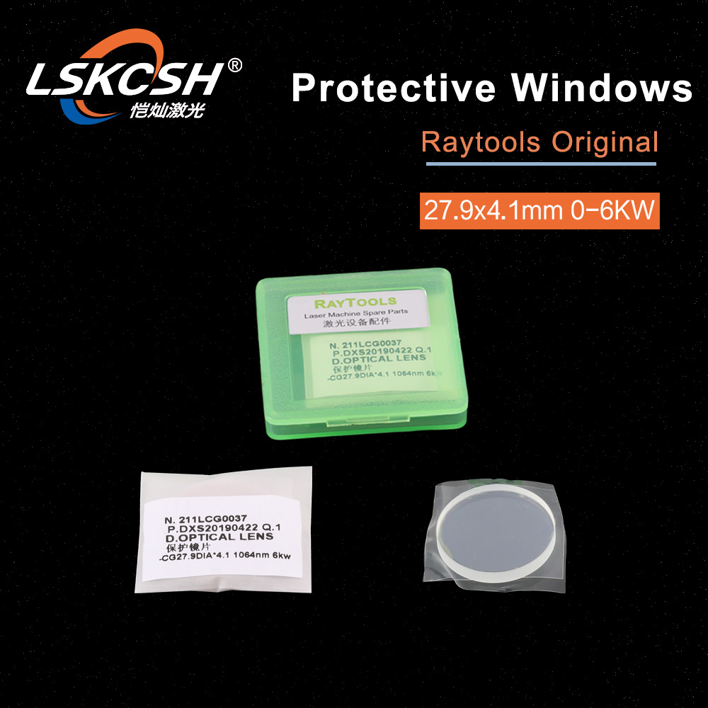 LSKCSH 20pcs lot Raytools Lens Protective glass protective windows original 27 9 4 1mm For Raytools