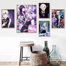 Death Parade Poster Custom Canvas Poster Art Home Decoration Cloth Fabric Wall Poster Print Silk Fabric 30X45cm,40X60cm