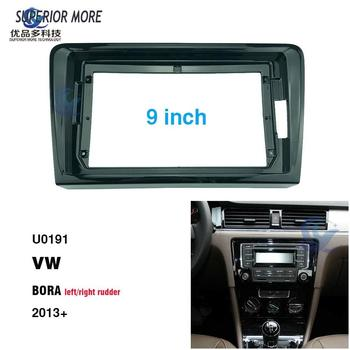 2 Din 9 inch car radio Fascias for VW BORA 2013 Dashboard Frame Installation dvd gps mp5 android Multimedia player image