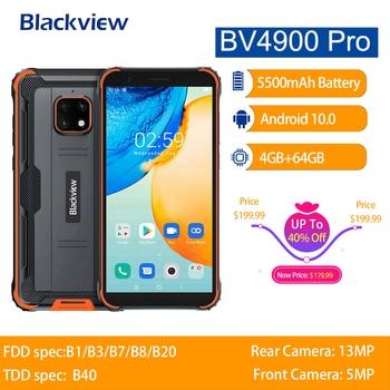 Перейти на Алиэкспресс и купить Blackview BV4900 Pro IP68 прочный телефон Android 10 водонепроницаемый мобильный телефон 5580 мАч NFC 5,7 дюймов 4G мобильный телефон 4 Гб 64 Гб Восьмиядерный
