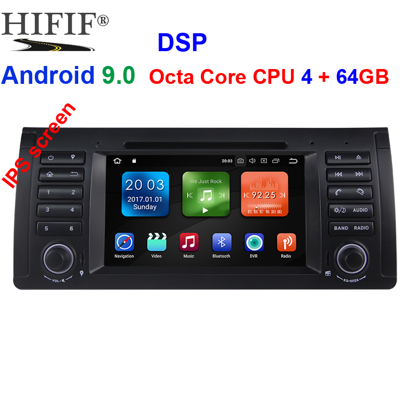 IPS Android 9.0 OCTO CORE 4G RAM 64GROM CAR DVD player For BMW E39 X5 M5 E38 E53 GPS receiver Audio radio navigation multimedia image