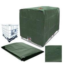 Housse de protection contre les UV pour réservoir d'eau de pluie, papier d'aluminium, étanche et anti-poussière, couleur verte, pour conteneur IBC 1000 l, tissu Oxford