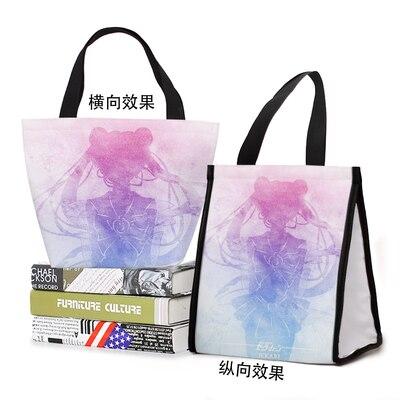 Bolsas dos Desenhos Bolsa de Armazenamento Marinheiro Gato Animal Moda Personalizado Almoço Animados Quente Portátil Feminino Meninas Unisex Olm Lua