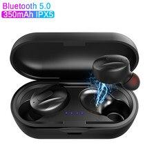XG13 TWS Potência do Fone de ouvido Esporte Bluetooth 5.0 Sem Fio No Ouvido fones de Ouvido Mini IP5 5D Fone de Ouvido Estéreo de Alta Fidelidade Headset Headfree À Prova D' Água