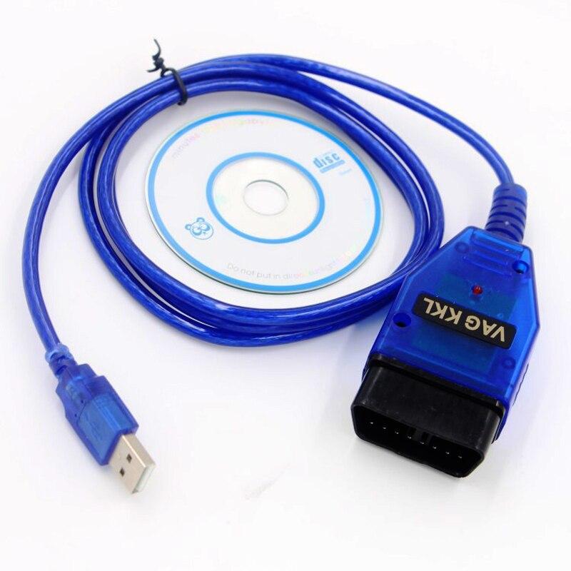 Beyisi VAG-COM 409.1 Vag Com 409Com Vag 409.1 Kkl OBD2 USB Diagnostic Cable Scanner  Interface For VW Audi Seat Volkswagen Skoda