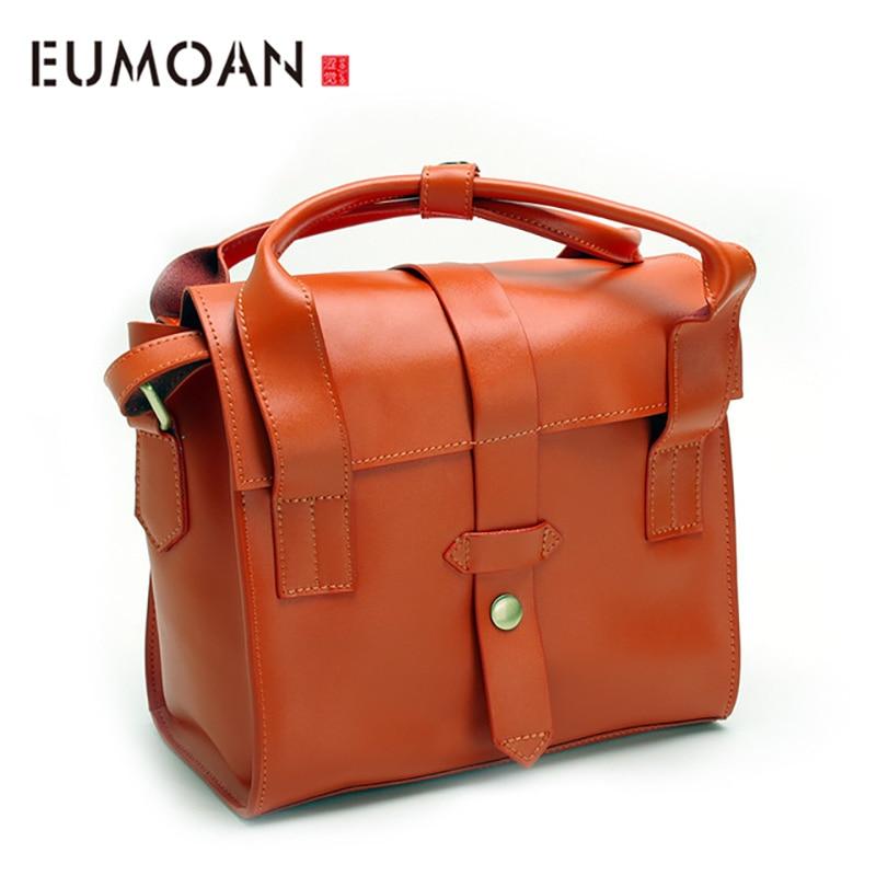 Bagaj ve Çantalar'ten Omuz Çantaları'de EUMOAN Yeni eyer çantası deri omuzdan askili çanta Japon ve Kore Akademisi rüzgar el çarpık çapraz paket'da  Grup 1