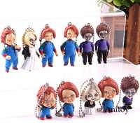 Gorące zabawki figurka postaci z filmu zabawa dla dzieci panna młoda Chucky Mini zawieszki breloki Tiffany Chucky figurka pcv zabawka lalka zestaw zabawek