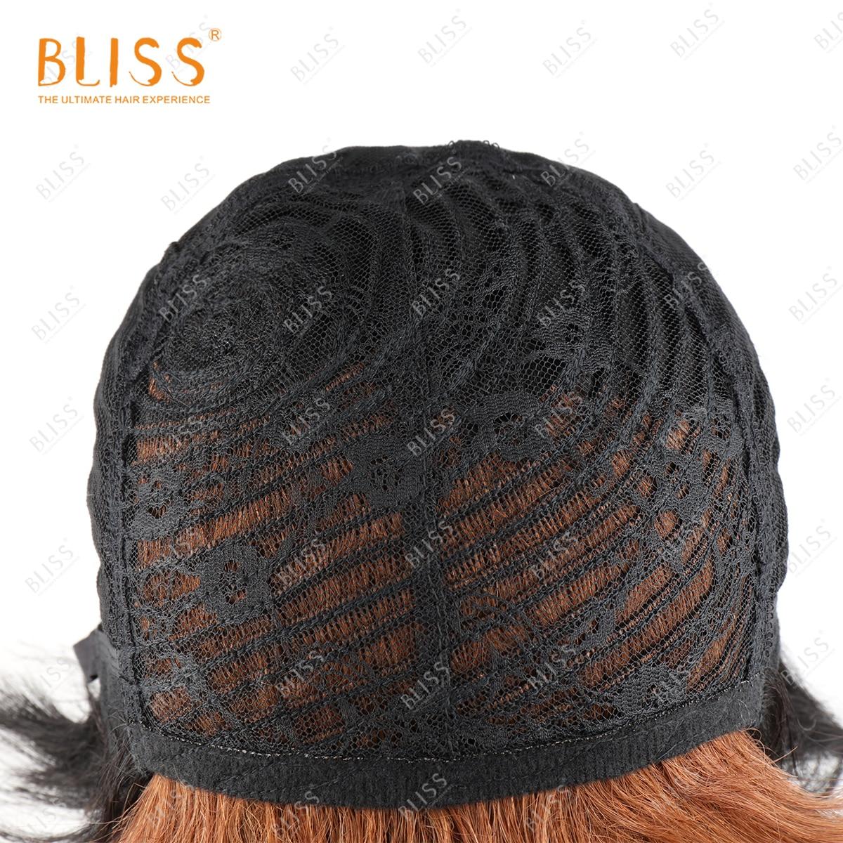 Bliss ombre curto pixie corte perucas máquina