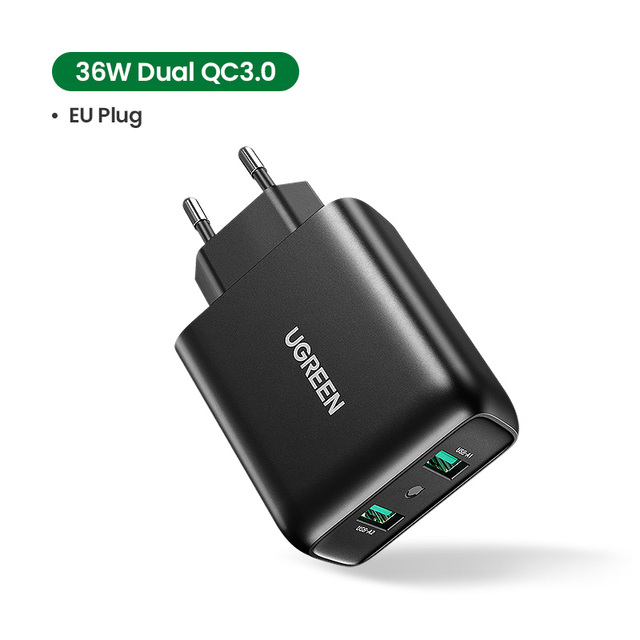 Ugreen USB Charger Quick Charge 3.0 36W Fast Charger Adapter QC3.0 Mobile Phone Chargers for iPhone Samsung Xiaomi Redmi Charger 7