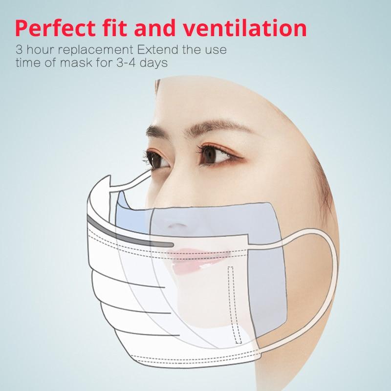 Image 5 - 100pcs Mascherine Disposable Filter Pad Masks Respirator  Smog For kf94 N95 KN95 FFp3 2 1 All FaceMasks