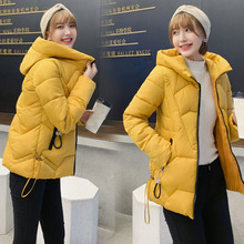 Winter Women's Down Cotton Parka Short Fur Collar Hooded Coat Quilted Jacket HOt цена и фото