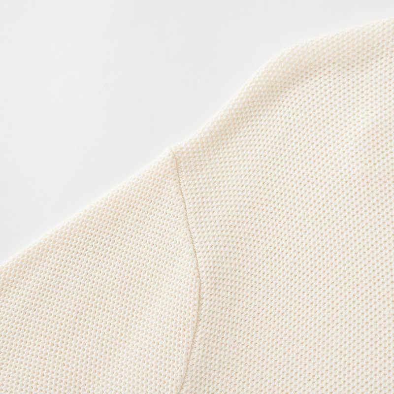 SEMIR 느슨한 바깥 쪽 착용 스웨터 여성 머리 라운드 목 드롭 어깨 슬리브 니트 스웨터 대비 색 자수 따뜻한 여자상의