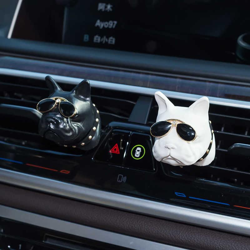 Auto Bevanda Rinfrescante di Aria Gesso Bulldog Auto Odore Profumo di Clip Automotive Interno Vent Profumo Profumo Odore Diffusore Aroma Pinze