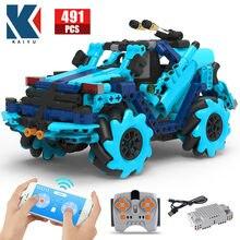 Kaiyu cidade offroad aplicativo elétrico de controle remoto carro de corrida blocos de construção criador técnico rc veículo tijolos brinquedos para crianças