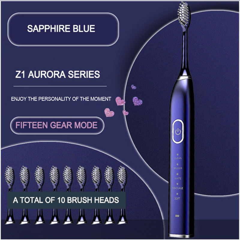 VIP Ultrasonic Sonic Electric Toothbrush USB Charge Rechargeable Electronic Tooth Brush Waterproof  Teeth Whitening Dental Brush|Electric Toothbrushes|   - AliExpress