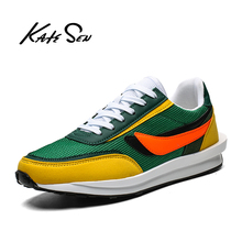 Buy KATESEN Men Sneakers Fashion Casual Shoes Camouflage Mens Shoes Top Quality Comfortable Lightweight Males Shoes Sport Shoes directly from merchant!