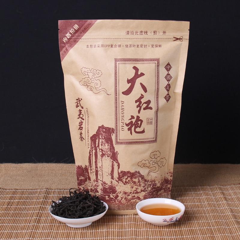 중국 Da-Hong-Pao 차 큰 빨간 가운 우롱 차 원래 녹색 음식 Wuyi Rougui 차 건강 관리를위한 무게를 잃으십시오