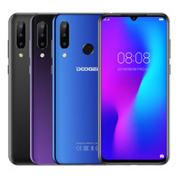 DOOGEE N20 Smartphone 4GB+64GB 6.3'' Waterdrop Screen 16MP+16MP+8MP+8MP Android 9.0 MTK6763V Octa Dual 4G 4350mAh Mobile Phone