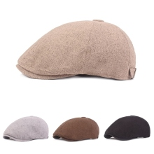 Casual Mens Berets Cap Golf Driving UV Protection Flat Cotton Linen Peaked Outdoor Hiking Sports Hat Fashion Visors