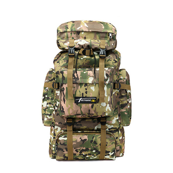 hiking camping backpack 70L large capacity military rucksack mountaineering bag camouflage tactical climbing backpack tracking