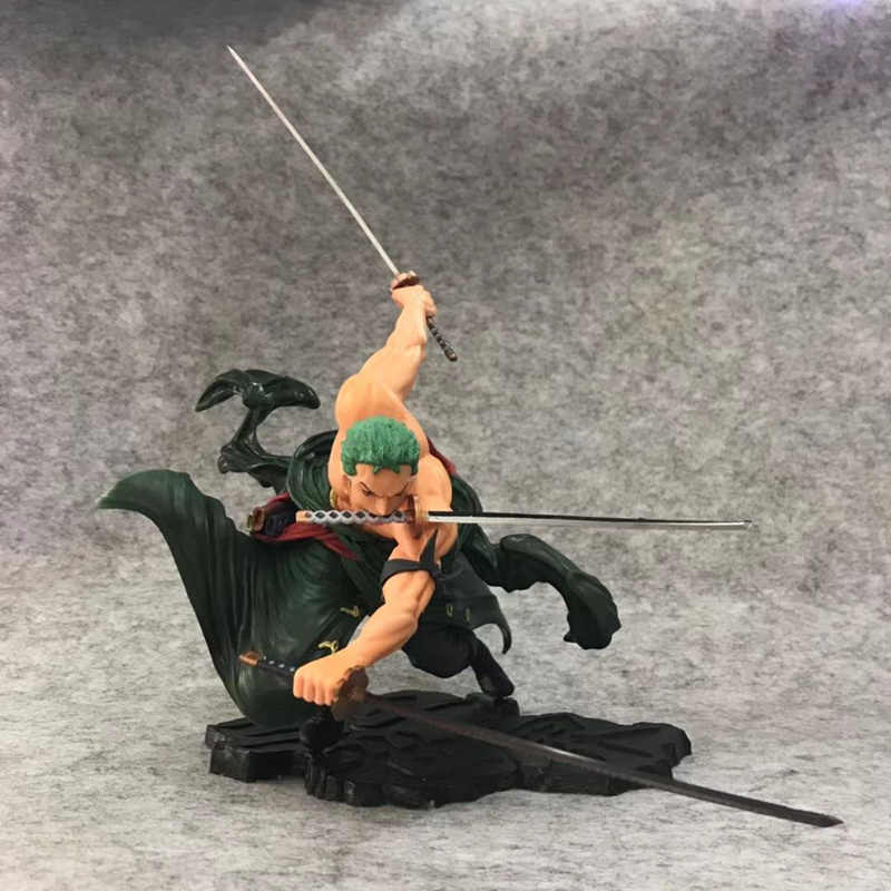Anime One Piece Roronoa Zoro Três Mil Mundo Ver PVC Action Figure Collectible Modelo toy boneca 17cm