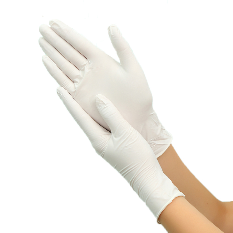 100pcs Disposable Nitrile Gloves Oil-proof White Nitrile Tattoo Barber Labor Insurance Industrial Gloves Outdoor