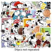 54 pçs dos desenhos animados snoopy adesivo diy graffiti skate mala de bagagem portátil telefone adesivo brinquedo clássico