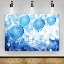 Laeacco mavi balonlar vaftiz doğum günü partisi dekor Polka Dots sahne posteri çocuk portre fotoğraf arka plan fotoğraf zemin