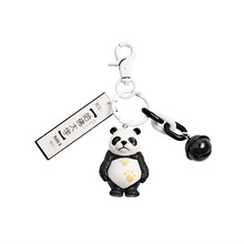 Creative Cute Cartoon Panda Keychain Metal Jewelry Animal Bell Key chain Girls Bag Ornaments Accessories Gift