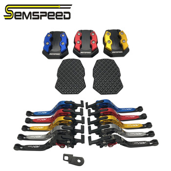 SEMSPEED adv 150 Parking Levers Foot Side Stand Pad Kit For ADV150 ADV 150 2019 2020 CNC Motorcycle Foldable Brake Clutch Levers