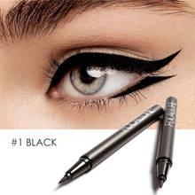 FOCALLURE sıvı Eyeliner su geçirmez uzun ömürlü siyah jel göz kalemi giymek kolay siyah eyeliner kalem kadın göz makyaj