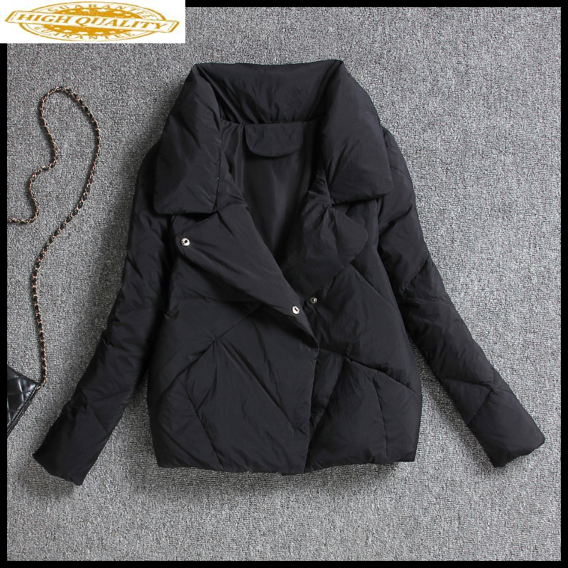 Short Women's Down Jacket Korean Autumn Winter 90% White Duck Down Coat Female Puffer Jacket 2020 Chaqueta Mujer KJ3352