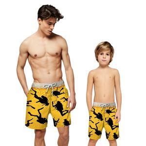 Детские пляжные штаны для мальчиков, шорты для плавания, одежда для плавания, купальник с карманом, купальный костюм для серфинга