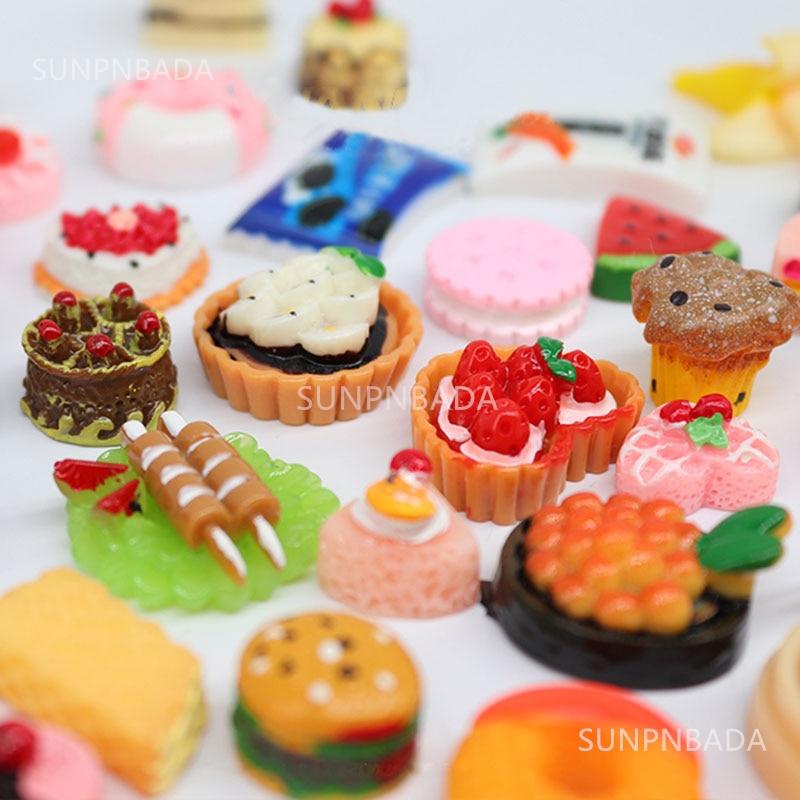 Cute Miniature Dollhouse Supermarket Food Snacks Mini Cake Wine Drink for Blyth Barbies BJD Doll Kitchen Accessories 4