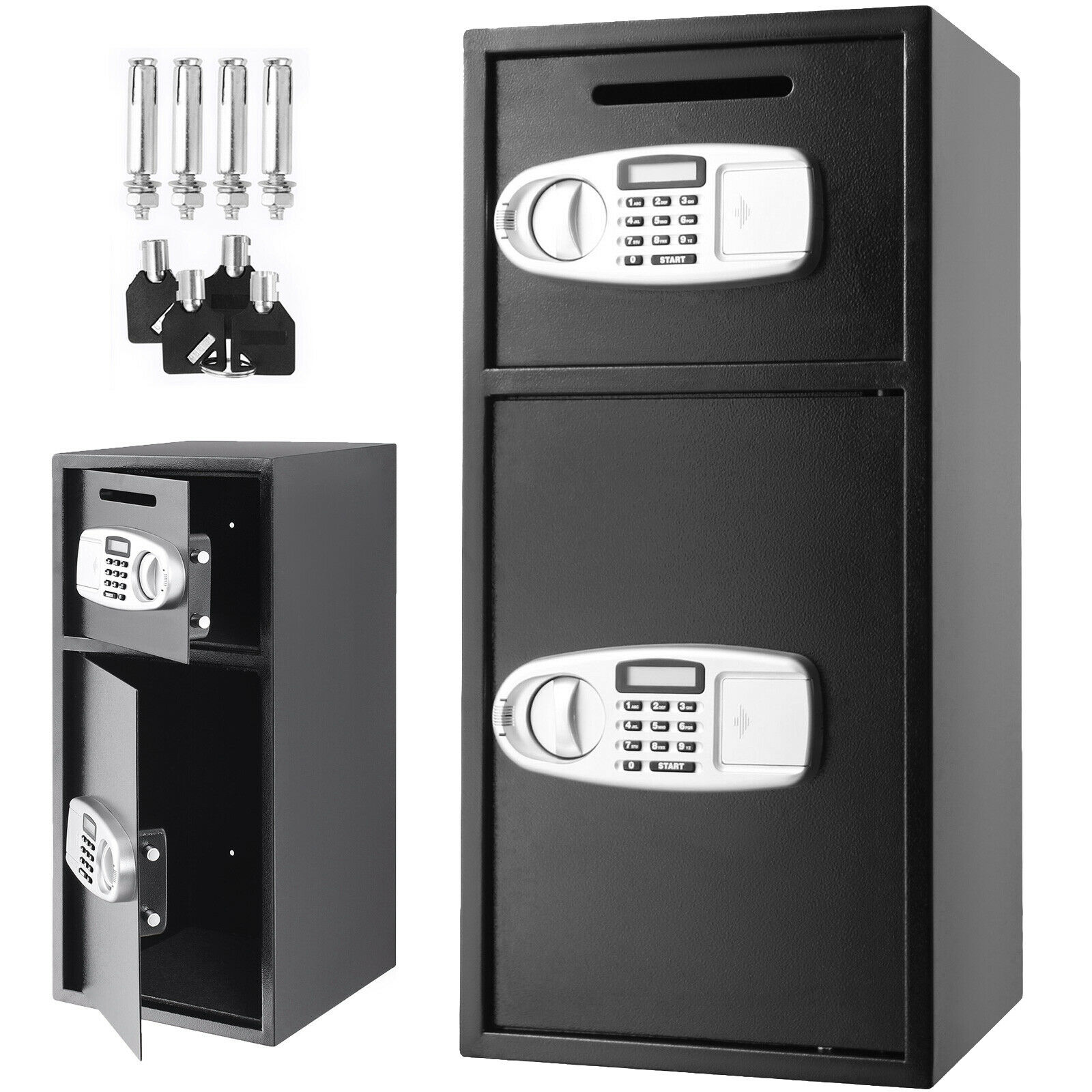 Safe-Box for Money-Gun Jewelry Steel Digital Depository Security Superland Large Double-Door