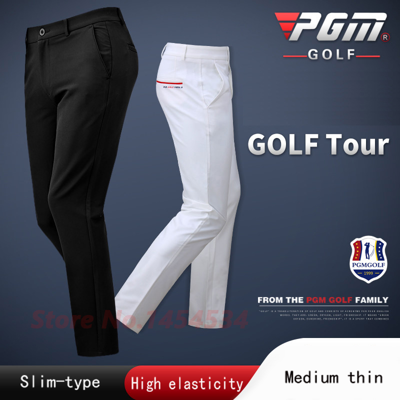Golf Tennis Basebal Clothes Men's Long Slim Trousers Male Spring Autumn High-elastic Sports Wear Ball Pants Comfortable Soft Dry