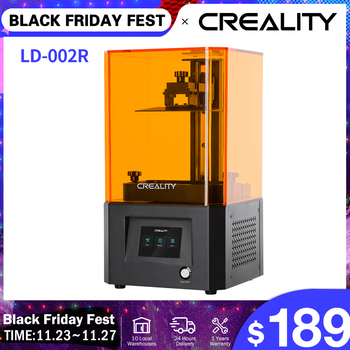 CREALITY 3D Printer LD-002R UV Resin 3D Printer LCD Photocuring Ball Linear Rails Air Filtration System Off-line Printing linear guide rails 500mm x 500mm working area xy linear stage for 3d printer