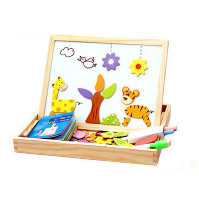 Wooden Magnetic Puzzle Figure/Animals/ House / Plant Drawing Board 19 styles Box Learning & Educational Toy Gift for children | Stuffed & Plush Animals