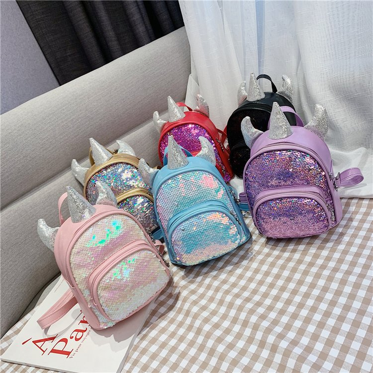 Korean-style Children's Bags 2019 Spring And Summer New Style Backpack Simple Sequin Backpack Trend Men And Women Children Schoo