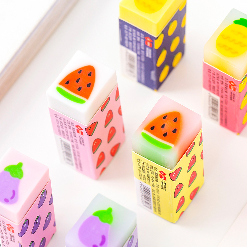 Fresh Fruit Eraser Rubber Eraser Cute Writing Drawing Pencil Eraser Stationery Promotional Gifts Office School Supplies