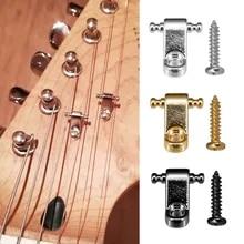 10Pcs Chrom Roller String Tree Halter Fender E-Gitarre Teile Neu