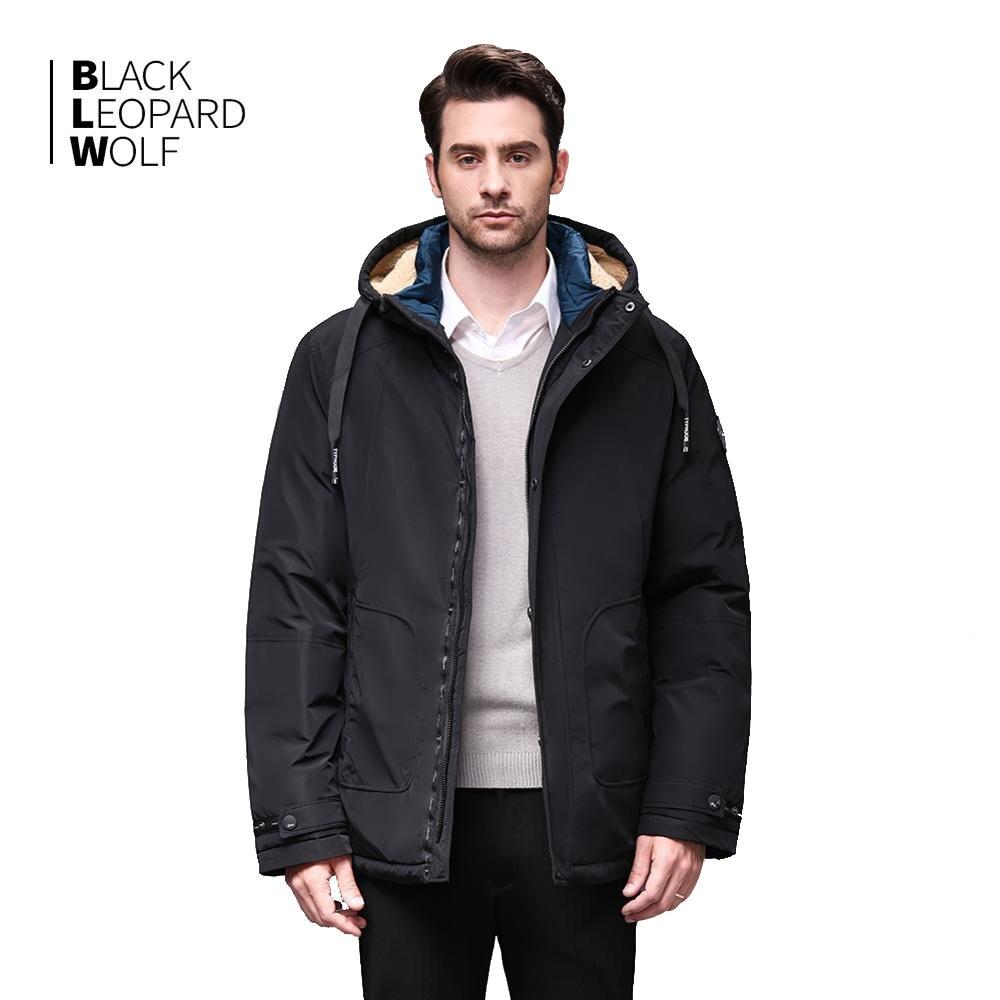 Blackleopardwolf 2019 Men's Clothing Winter Men's Fashion Down Jacket Men's Jacket and Coat Removable Fur Winter Coat BL-986(China)