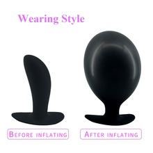 EXVOID Butt Vagina Dilator Inflatable Dildo Expandable Anal Plug Silicone G-spot Massage Sex Toys for Women Men Adult Products