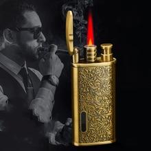 2020 Torch Lighter Jet Turbo Butane Gas Lighter For Cigar Cigarette Windproof Metal Pocket Lighter Gadgets For Man Gas Window недорого