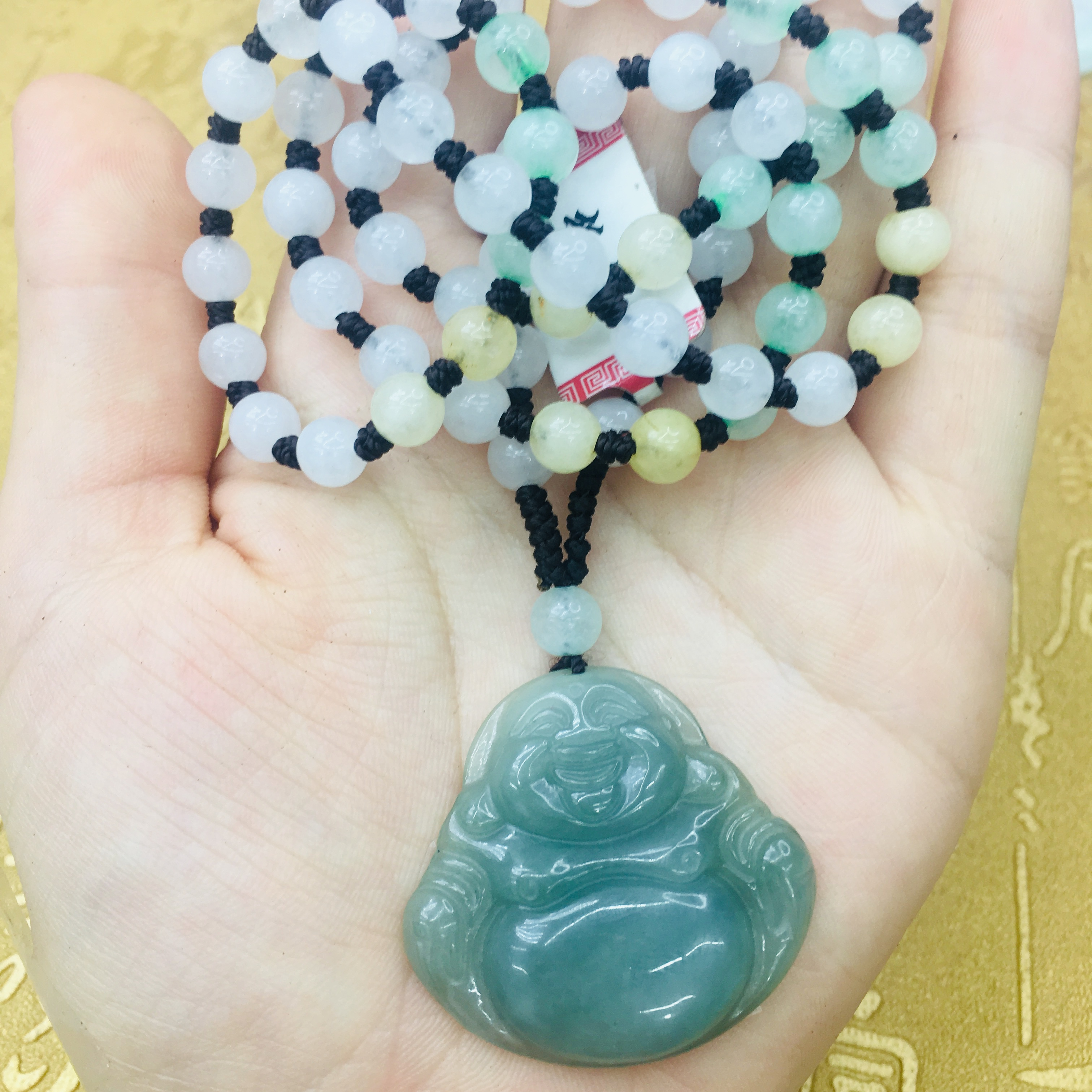 Certified 100/% Natural A green Emerald Jade Pendant ~ Necklace Have certificate