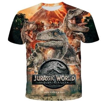 Jurassic World Fallen Kingdom Cool Dinosaur Head 3D Print T shirt  Boys and girls  1
